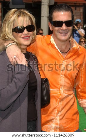 "Melanie Griffith and Antonio Banderas at the Los Angeles Premiere of ""Shrek The Third"". Mann Village Theatre, Westwood, CA. 05-06-07"