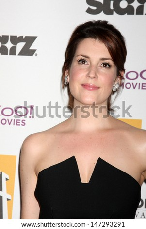 Melanie Lynskey arriving at the 13th Annuall Hollywood Film Festival Awards Gala Ceremony Beverly Hilton Hotel Beverly Hills,  CA October 26, 2009 - stock photo