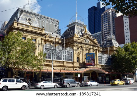 MELBOURNE, AUS - APR 14 2014:Princess Theatre Melbourne.It's a 1488-seat theatre in Melbourne, Australia.listed by the National Trust of Australia and is on the Victorian Heritage Register.