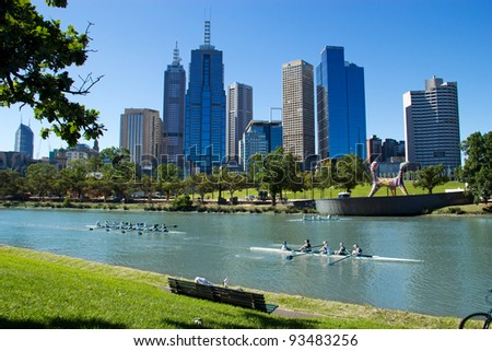 Melbourne - Australia - stock photo