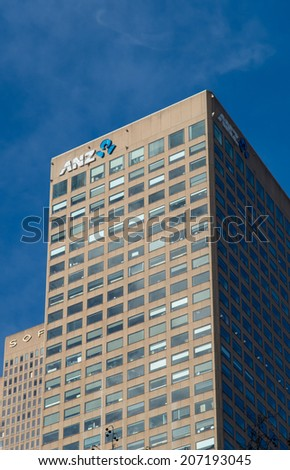 melbourne australia july 13 2014 anz bank branch and offices at collins anz office melbourne