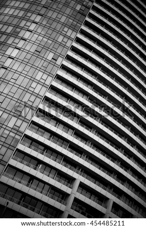 MELBOURNE, AUSTRALIA, 14 July 2016. Black and White Detail of Iconic Architecture in the City of Melbourne.  - stock photo