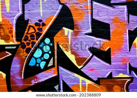 MELBOURNE, AUSTRALIA - JUNE 20 2014: Street art by unidentified artist. Melbourne's graffiti management plan recognizes the importance of street art in a vibrant urban culture - stock photo