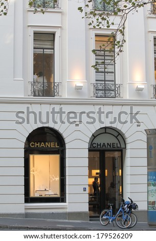 MELBOURNE AUSTRALIA - March 1,2014: CHANEL shop in Melbourne - Chanel is a French privately held company that specializes in ready-to-wear clothes, luxury goods and fashion accessories