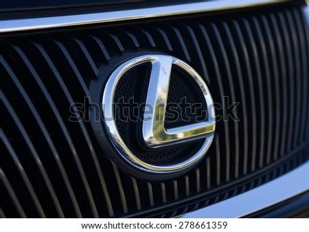 Melbourne,Australia -May 17.2015: Lexus metac logo closeup on the car in Melbourne.Australia - stock photo