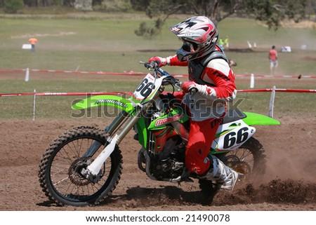 MELBOURNE, AUSTRALIA - October 11 2008: Woodstock 2008 Dirt Bike Master in Taralgon - #66 Daniel Kavanagh - stock photo