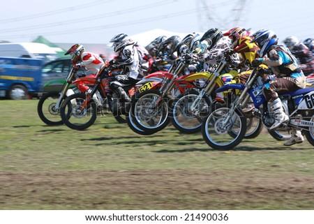MELBOURNE, AUSTRALIA - October 11 2008: Woodstock 2008 Dirt Bike Master in Taralgon - Race meet #2 - stock photo