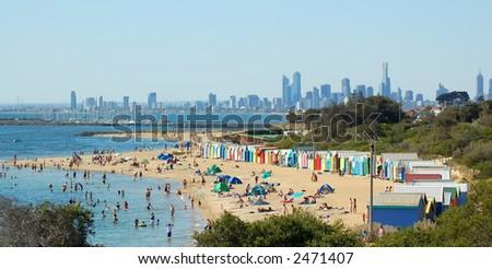Melbourne Beach in Summer - stock photo