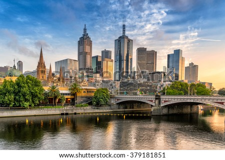 Melbourne CBD - stock photo