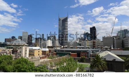 Melbourne CBD skyline - stock photo