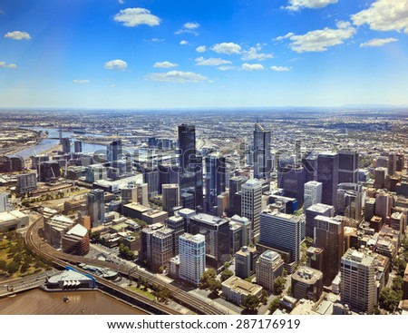 Melbourne city  - stock photo
