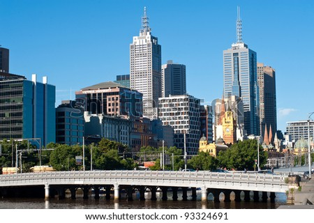 Melbourne city - Victoria - Australia - stock photo
