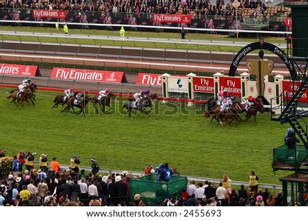 Melbourne Cup, Race That Stops a Nation - stock photo