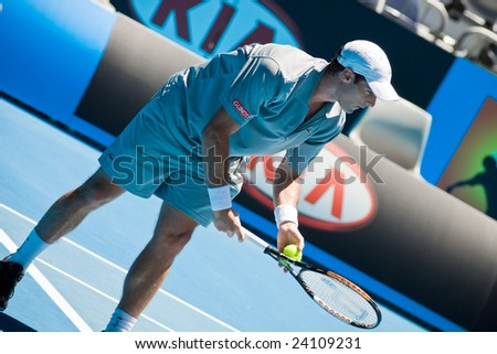 MELBOURNE- JANUARY 20: Tennis player Pablo Andujar at the Australian Open on January 20, 2009 in Melbourne Australia.