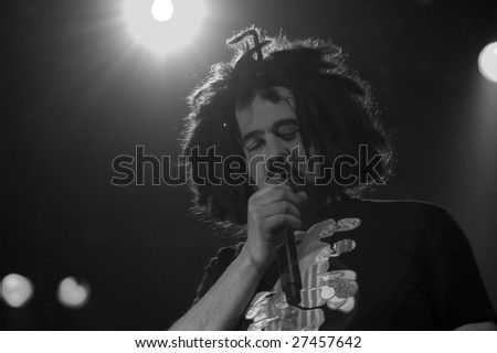 MELBOURNE- MARCH 27: Adam Duritz of the Counting Crows performs live in concert at the Palais Theatre  March 27, 2009.