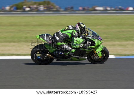 MELBOURNE - OCTOBER 4: Antony West at the MotoGP race on October 4, 2008 on Phillip Island, Melbourne Australia. - stock photo