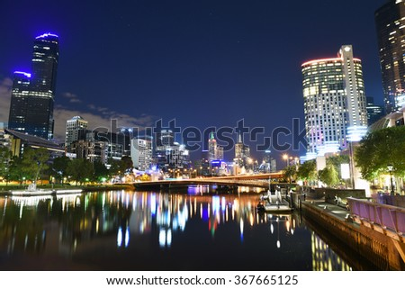 Melbourne's popular Southbank precinct. - stock photo