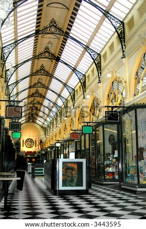 Melbourne Shopping Arcade - stock photo