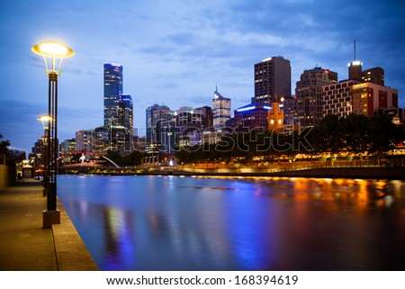 Melbourne Skyline - stock photo