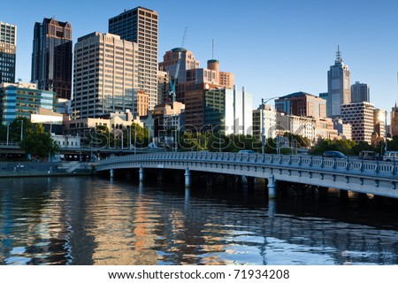 Melbourne skyline from Southbank