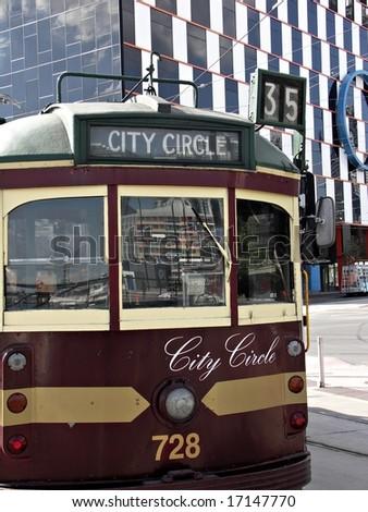 Melbourne Tram - stock photo
