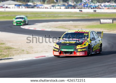 MELBOURNE, WINTON/AUSTRALIA, 22 MAY , 2016: Virgin Australia Supercars Championship  - Chaz Mostert (Supercheap Auto Racing) during Qualifying at Winton.