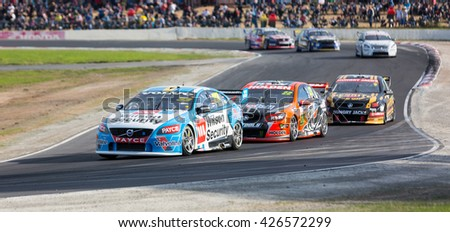 MELBOURNE, WINTON/AUSTRALIA, 22 MAY , 2016: Virgin Australia Supercars Championship  - Scott McLaughlin (Wilson Security Racing) during Race 11 at Winton.