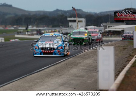 MELBOURNE, WINTON/AUSTRALIA, 22 MAY , 2016: Virgin Australia Supercars Championship  - Scott McLaughlin (Wilson Security Racing) during Race 10 at Winton.