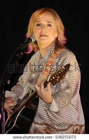 Melissa Etheridge  at a performance to promote her album 'A New Thought For Christmas'. Hard Rock Cafe, Universal City, CA. 09-30-08 - stock photo