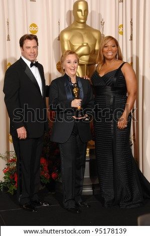 Melissa Etheridge with John Travolta & Queen Latifah at the 79th Annual Academy Awards at the Kodak Theatre, Hollywood. February 26, 2007  Los Angeles, CA Picture: Paul Smith / Featureflash - stock photo