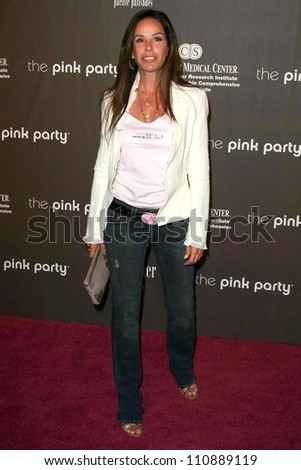 Melissa Rivers at the 3rd Annual Pink Party benefiting Cedars-Sinai Women's Cancer Research Institute. Viceroy Hotel, Santa Monica, CA. 09-08-07 - stock photo