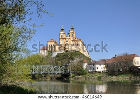 Melk monastery, abbey in Austria - stock photo