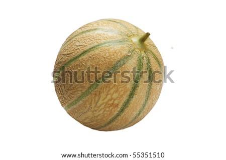melon Cantaloupe, isolated on the white - stock photo