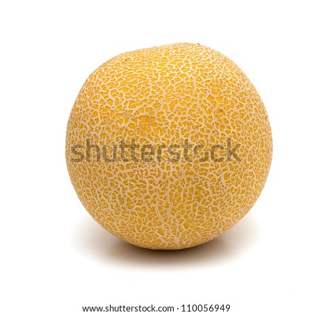 melone isolated on white background - stock photo