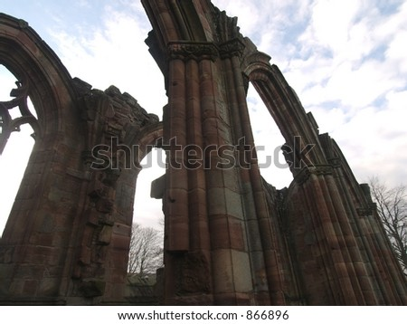 Melrose Abbey arches