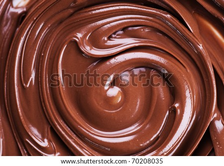 Melted Chocolate - stock photo