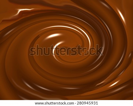 Melted chocolate background. Digital background.