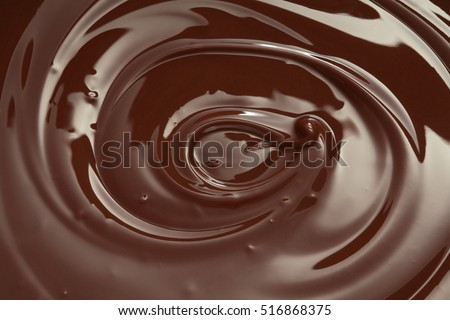 Melted chocolate swirl / melting chocolate/ chocolate swirl