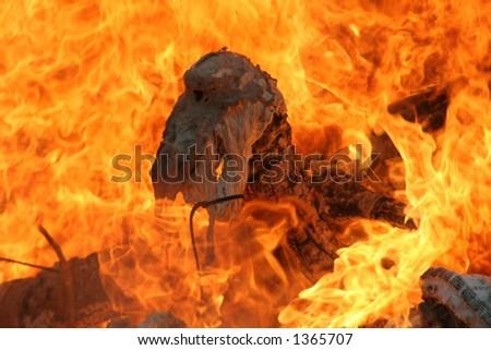 melting fire - stock photo