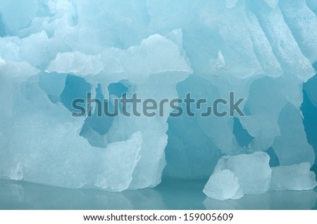 Melting Glaciers in the Arctic - stock photo