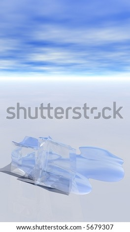 Melting Ice - stock photo