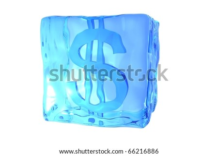 Melting Ice Cube - stock photo