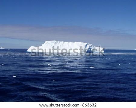 Melting Ice in Antarctica - stock photo