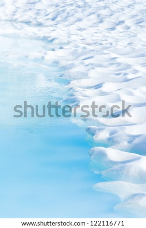 melting ice in Norway - stock photo