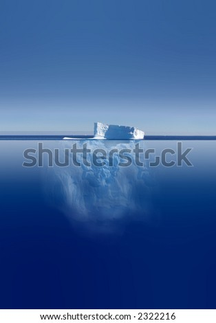 Melting Iceberg - stock photo