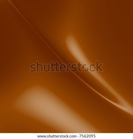 Melting milk chocolate curves - stock photo