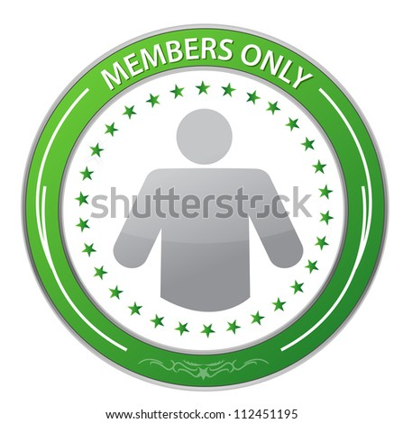 Members Only Circle Stamp illustration design over white - stock photo