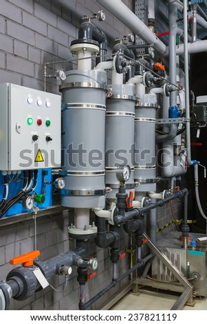 Membrane deaeration system for medium-power boiler house