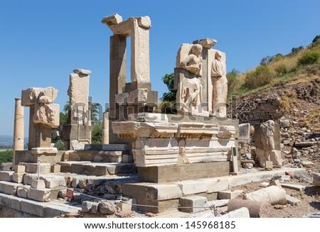 Memmius Monument, Ephesus, Turkey - stock photo
