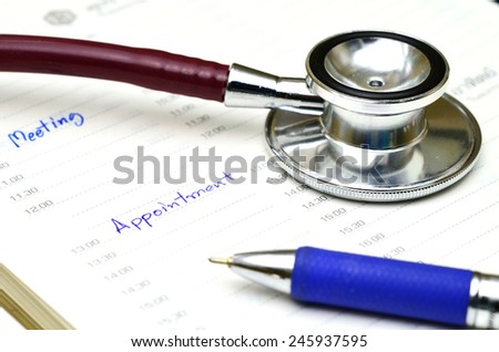 memo  appointment on calendar - stock photo